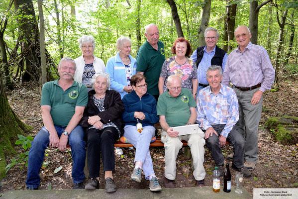 Das Betreuer- und Versorgungsteam vom Naturschutzverein