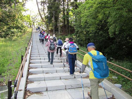 川内キャンパス内 三太郎の小径へ続く階段