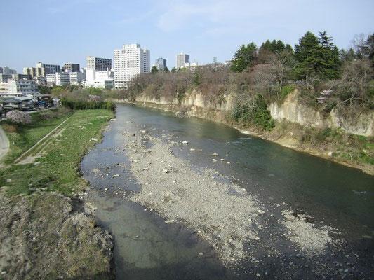 ♪春の小川はさらさら~ と 春を感じる広瀬川
