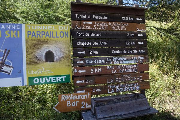Tunnel du Papaillon geöffnet - Von Vorteil für die Weiterfahrt