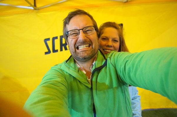 Selfie auf einer Scrambler Ducati - Bissig!