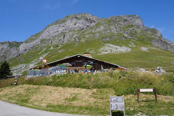 Auberge auf dem Col de L`Arpettaz