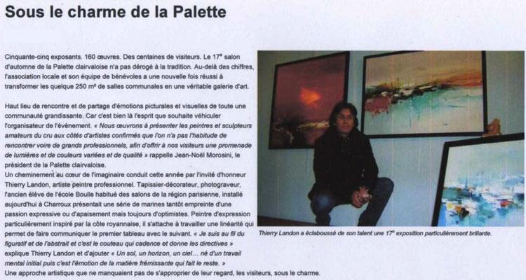"""Article """"La Nouvelle-République"""" du 12/11/12"""