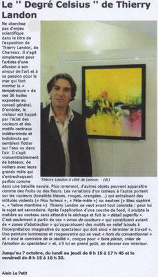 """Article """"La Nouvelle-République"""""""