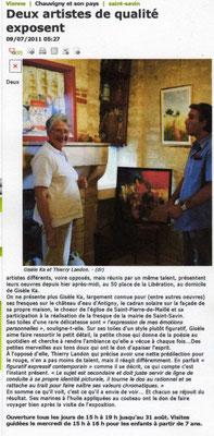 """Article """"La Nouvelle-République"""" du 09/07/11"""