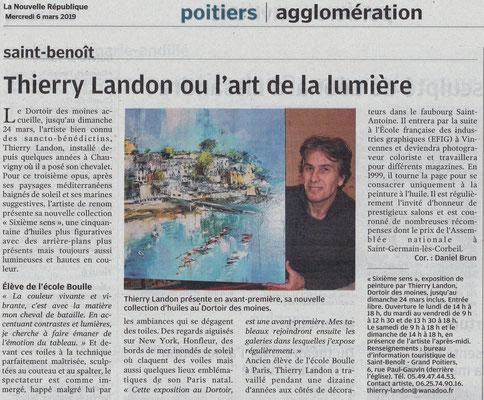 """Article """"La Nouvelle-République"""" - Daniel BRUN"""