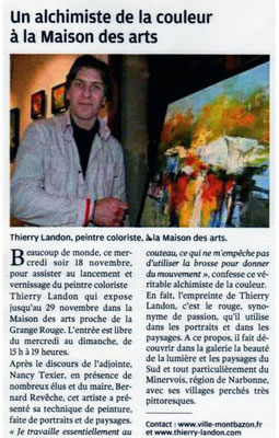 """Article """"La Nouvelle-République"""" du 22/11/2009"""