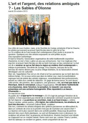 """Extrait article """"Ouest-France"""" du 29/10/2013"""