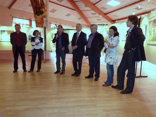 avec Bernard Biotteau, président, Pierre Pilling, les élus et les autres invités d'Honneur