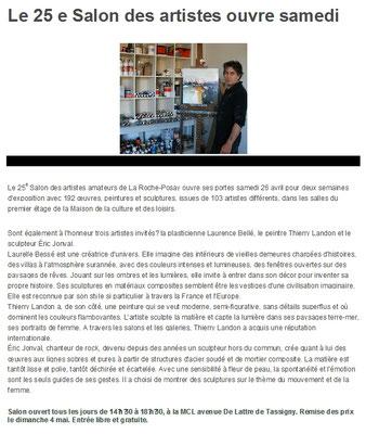 """Article """"La Nouvelle-République"""" du 24/04/14"""