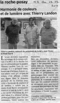"""Article """"La Nouvelle République"""" du 08/09/2010"""