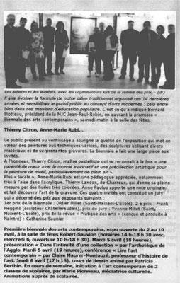 """Article """"La Nouvelle-République"""" du 04/04/2011"""