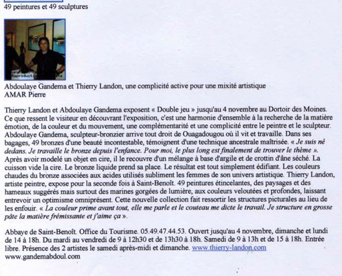 "Article ""Centre-Presse"" du 24/10/2012"