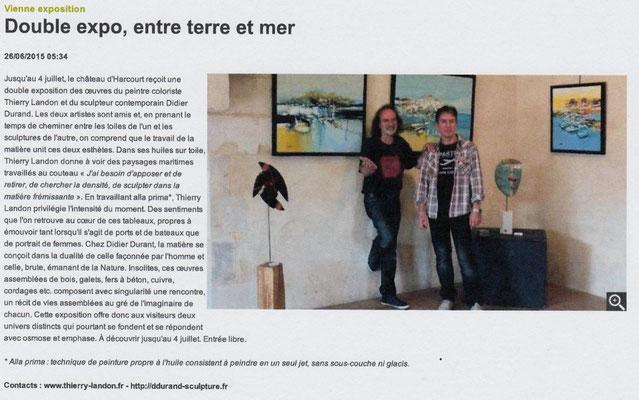 """Article """"La Nouvelle-République"""" du 26/06/2015"""