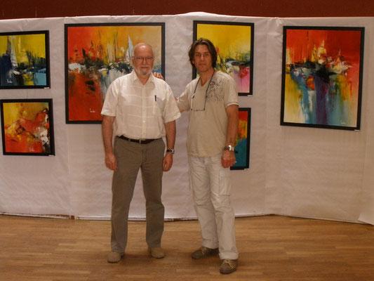Avec Jean-Hugues Thomassin, président de l'Association