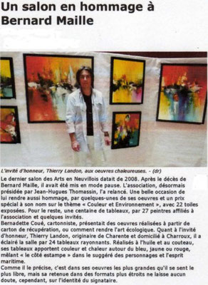 """Article """"La Nouvelle-République"""" du 02/06/11"""