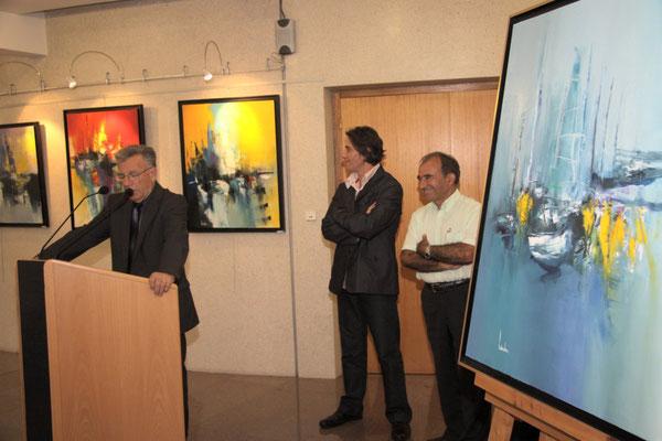 avec Maurice Ramblière et Yves Gargouil, conseiller général et maire de Charroux