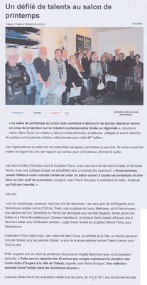 "Article ""Ouest-France"" du 26 avril 2016"