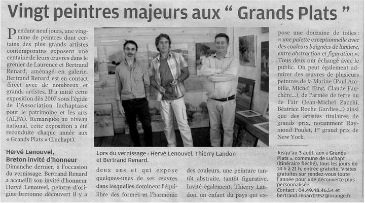 """Article """" La Nouvelle-République"""" du 31/07/2014"""