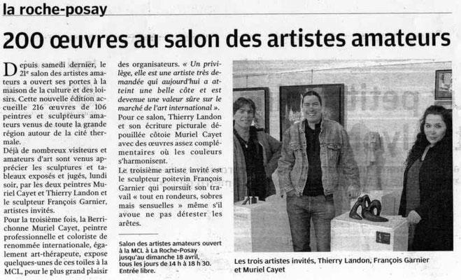 """Article """"Centre-Presse"""" du 11/04/2010"""