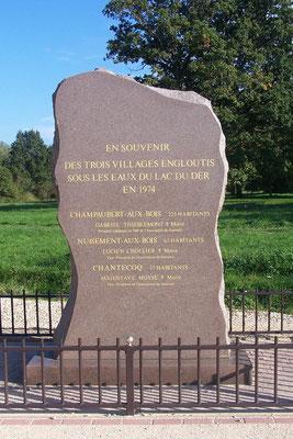 Gedenkstein für die versunkenen Dörfer