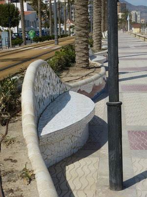 gestalteter Strandweg