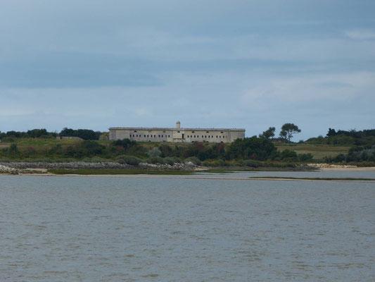 Gebäude auf der Île Madame