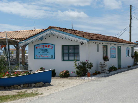Typische Hütte der Austernzüchter