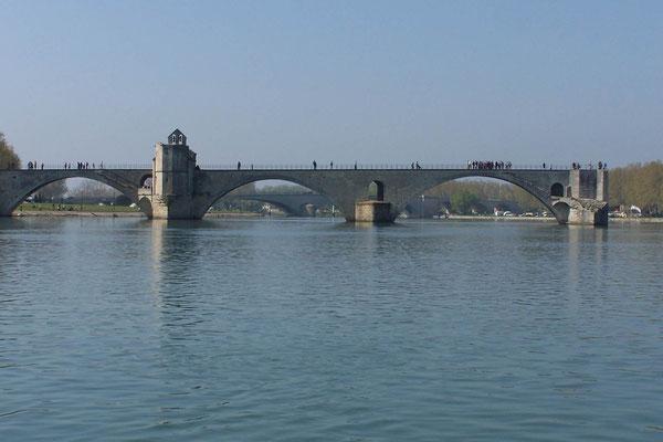 Pont St. Bénézet (Pont d´Avignon) von einer anderen Seite