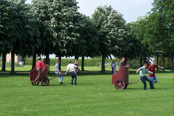 Spaßrennen im Archäologischen Park