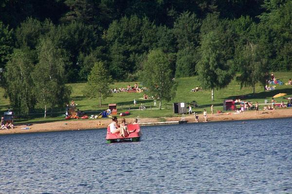 Tretboot fahren auf dem See