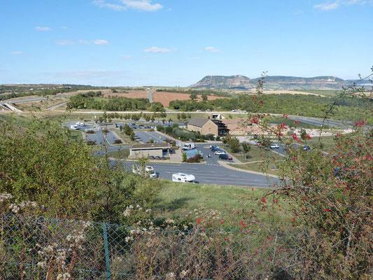 Parkplatz am Aussichtspunkt des Viaduct du Millau