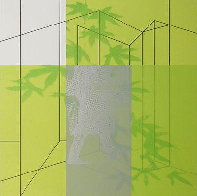 o.T., Siebdruck auf Aluminium, 2010
