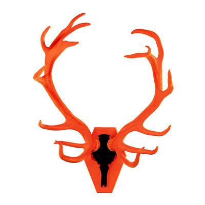 16-Ender (ungerade) orange/schwarz (H/B 125/90 cm)