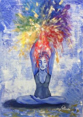 """""""Yoga"""" Acryl 50x70"""