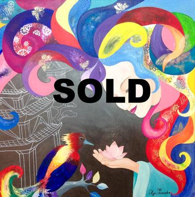 """""""Seele"""" Acryl, Mixed Media 80x80"""
