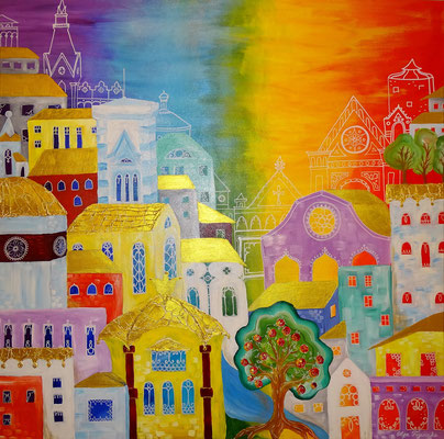 """Florenz"" Acryl 80x80"