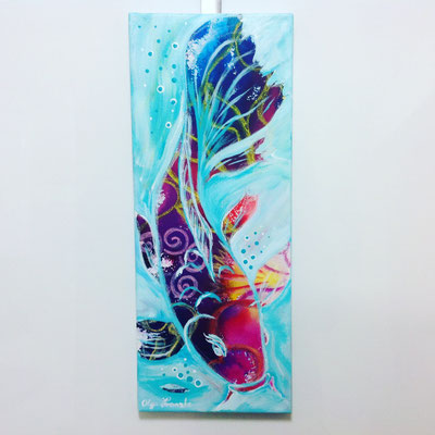 """Koi-Fisch"" Acryl 20x60"
