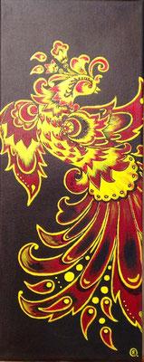 """""""Feuervogel"""" Acryl 20x60"""