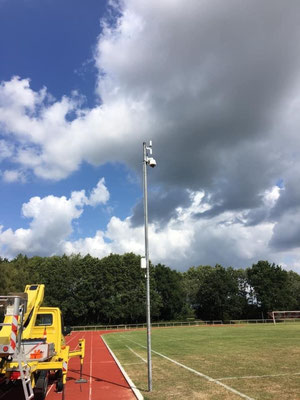 Unser SoccerwatchTV-Kamerasystem am A-Platz.