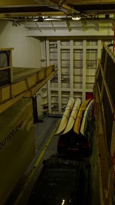 View towards the bow's watertight door. Picture Antoine H;