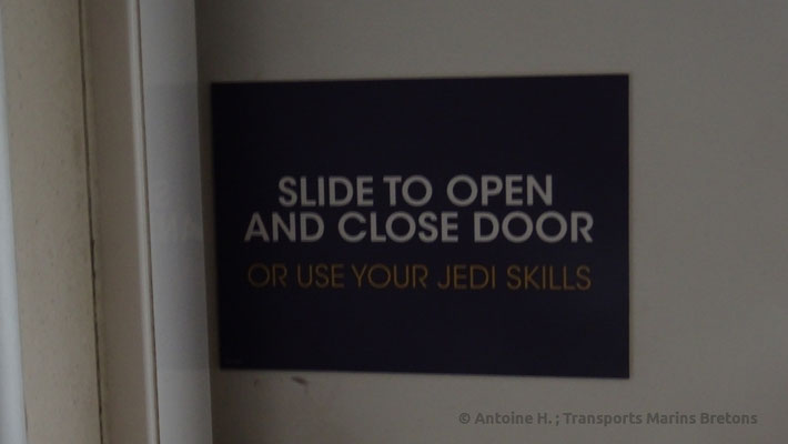 """""""Slide to open and close door. Or use your Jedi skills"""""""