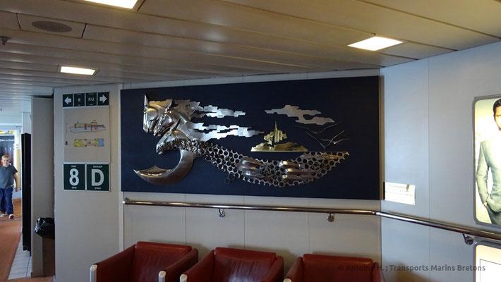 Art decorating the main corridors