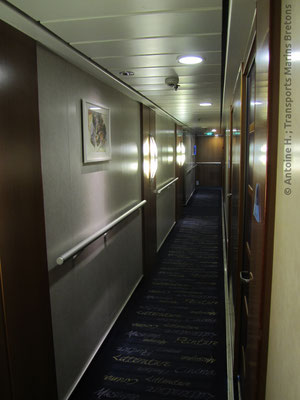 A corridor on board Mont Saint Michel, pictured by Antoine H.