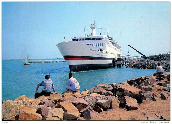 M/S Duc de Normandie (1986 - 2002) in Ouistreham, courtesy Brittany Ferries