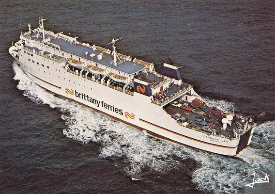 M/S Cornouailles (early-1986), courtesy Brittany Ferries