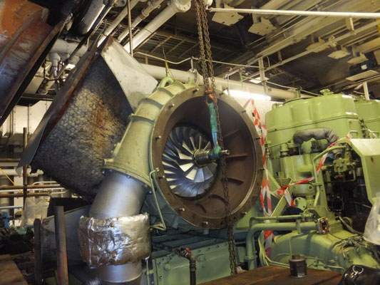 One of Commodore Goodwill's main engines. Picture Condor Ferries.