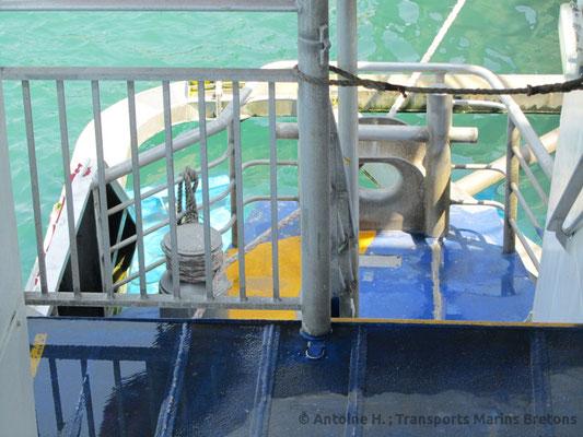 Condor Rapide's starboard waterjets. Picture Antoine H.