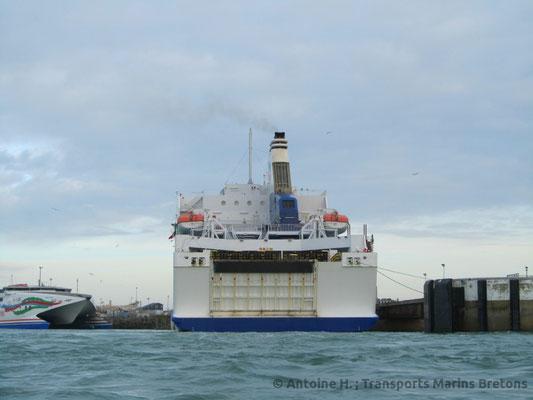 Armorique's stern. Picture Antoine H.