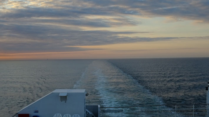 Sunset from Normandie's sun decks